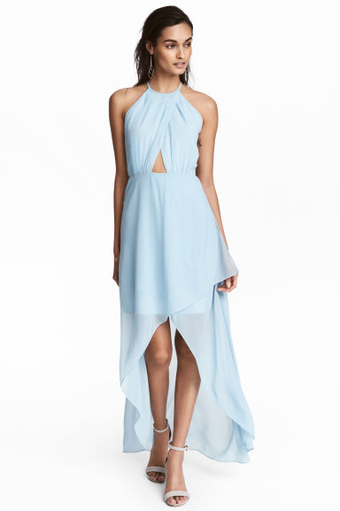 Long wrap dress - Light blue -  | H&M IE