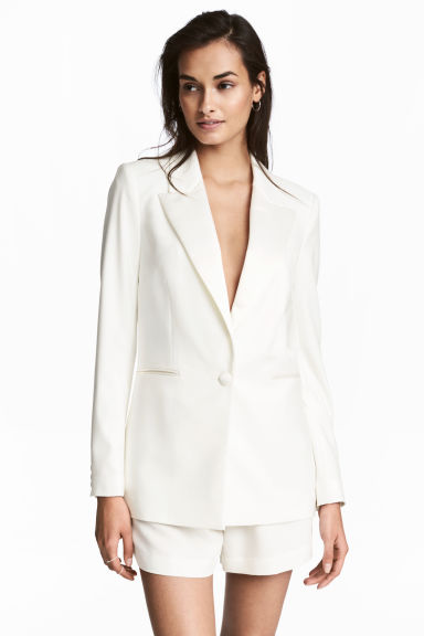 Tuxedo jacket - White - Ladies | H&M IE