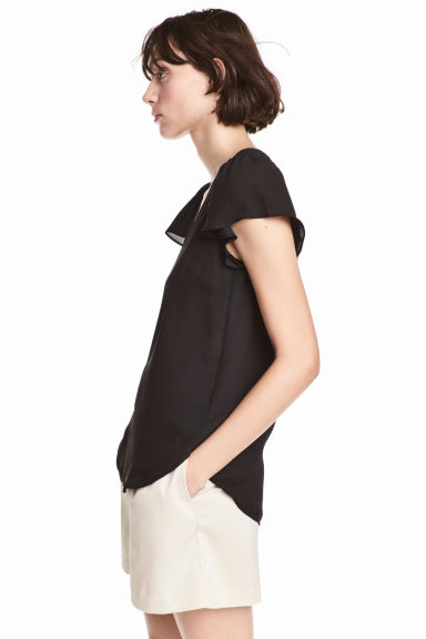 V-neck blouse - Black -  | H&M IE