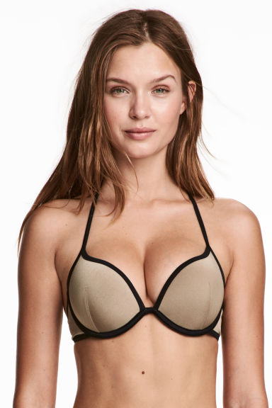 Top de bikini super push-up - Beige -  | H&M ES
