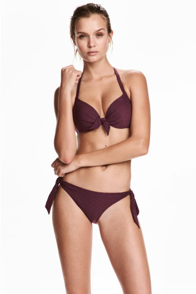Bikini bottoms - Plum - Ladies | H&M