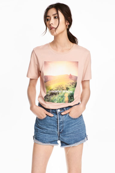 T-shirt con stampa - Cipria -  | H&M IT