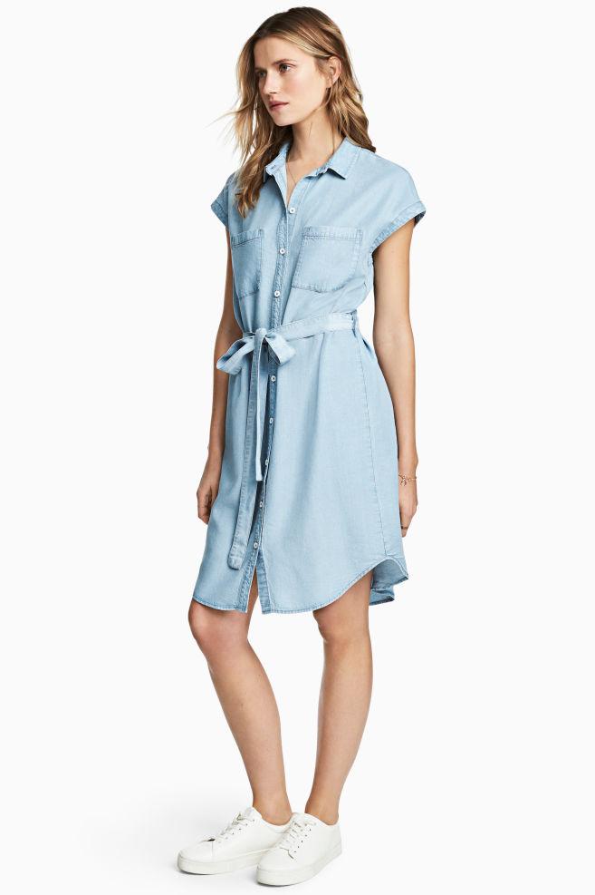 26f8143046f7 Šaty z lyocellu - Světlý denim blue - ŽENY
