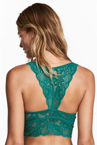 Push-up bralette - Emerald green -  | H&M IE