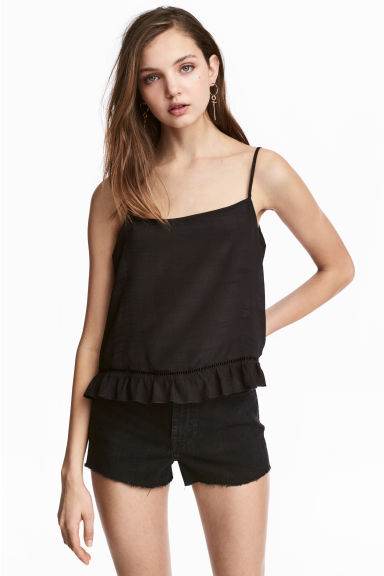Wide strappy top - Black - Ladies | H&M GB