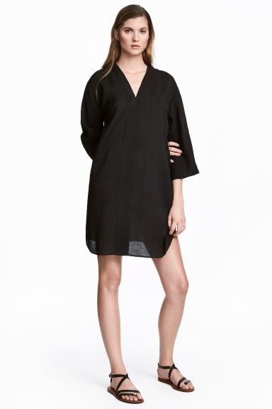 V-neck tunic - Black -  | H&M