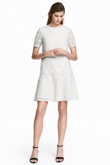 Lace dress - White - Ladies | H&M