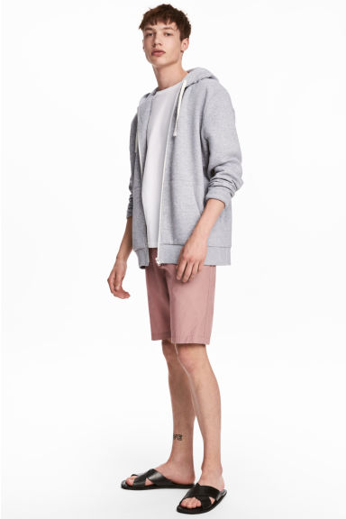 Knee-length cotton shorts - Dusky pink - Men | H&M