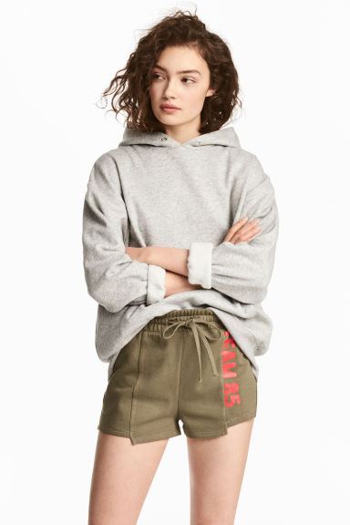 Sweatshirt shorts - Khaki green -  | H&M