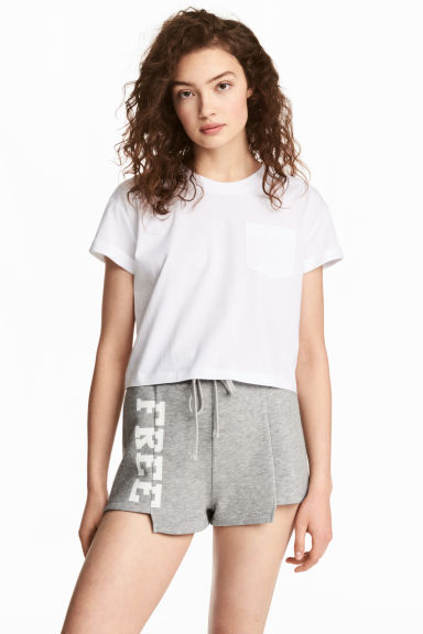 Sweatshirt shorts - Grey marl - Ladies | H&M CN