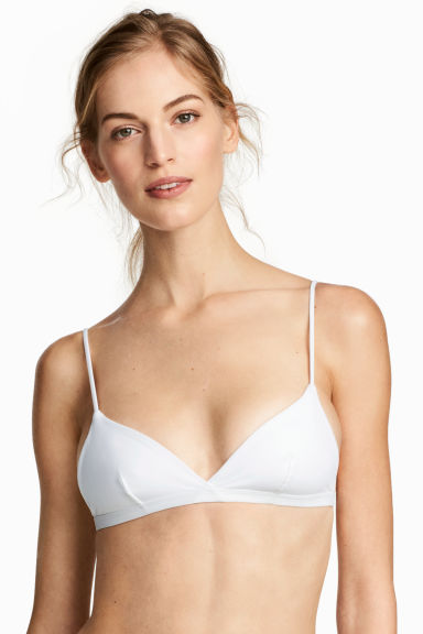 Top bikini a triangolo - Bianco -  | H&M IT