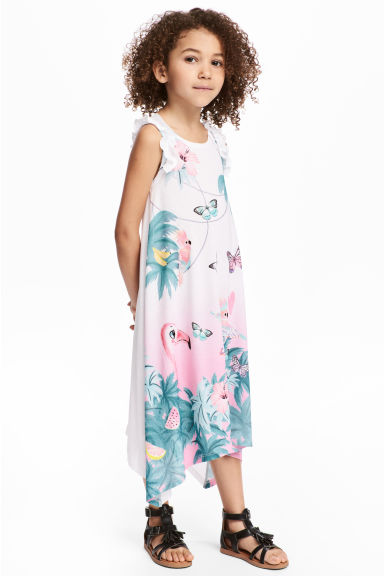 Printed jersey dress - White/Giraffe - Kids | H&M