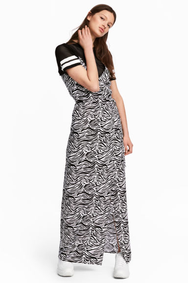 Maxi dress - Zebra print - Ladies | H&M GB