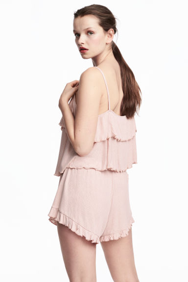 Short en jersey - Rose poudré/rayé -  | H&M BE