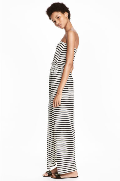 Maxi dress - White/Striped - Ladies | H&M