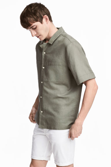 Camisa resort Regular fit - Verde caqui -  | H&M PT