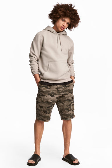 Cargo shorts - Khaki/Patterned -  | H&M