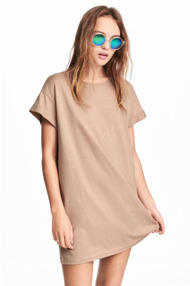 Long T-shirt - Light camel - Ladies | H&M