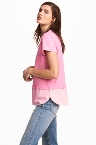 Top à manches courtes - Rose -  | H&M BE