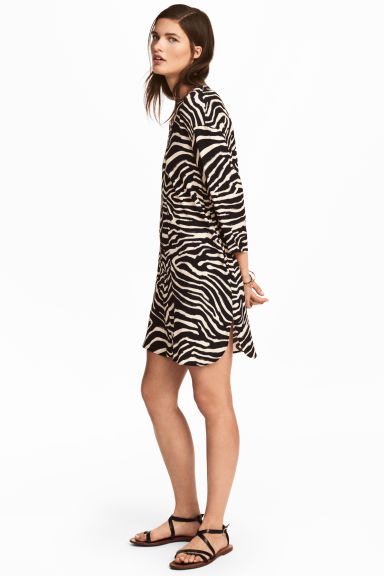 V-neck tunic - Zebra print -  | H&M GB