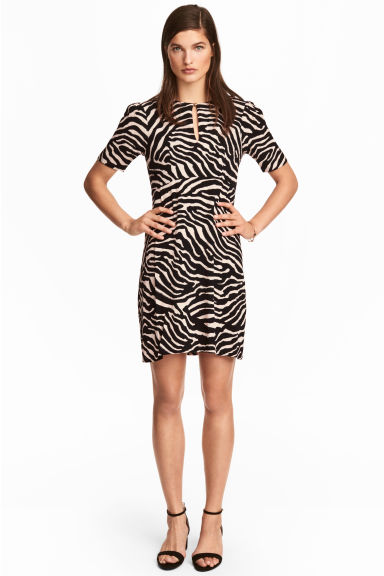 Crêpe dress - Zebra print - Ladies | H&M