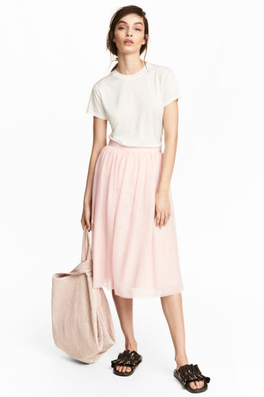 Pleated skirt - Light pink -  | H&M