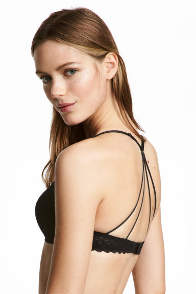 Kanten push-up beha - Zwart - DAMES | H&M BE