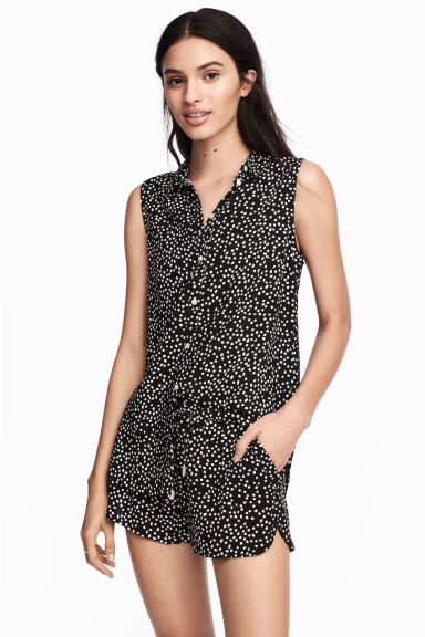 Short shorts - Black/Spotted -  | H&M
