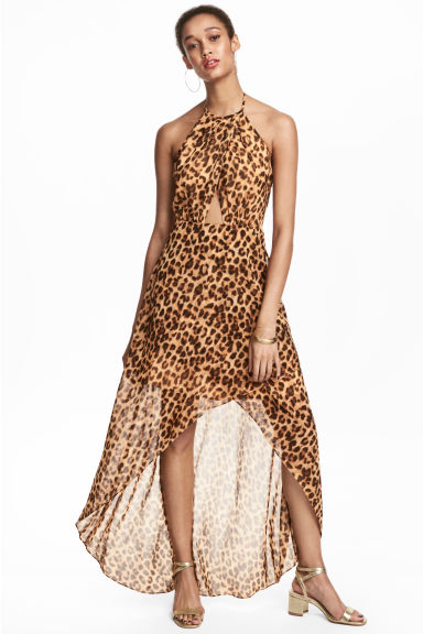 Long wrap dress - Leopard print - Ladies | H&M