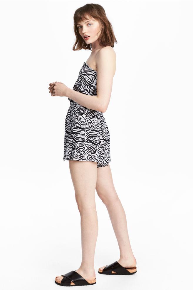 06f7943a76b Mono sin tirantes - Estampado de cebra - | H&M ...