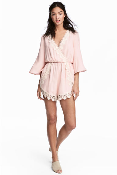 Playsuit - Powder pink - Ladies | H&M
