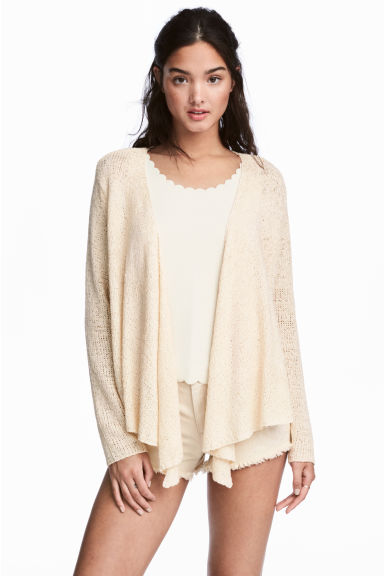 Draped cardigan - Natural white - Ladies | H&M CN