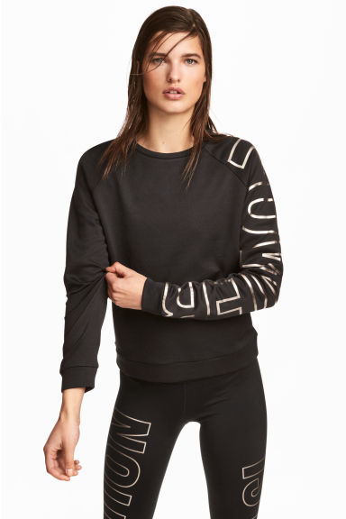 Sports top - Black - Ladies | H&M CN