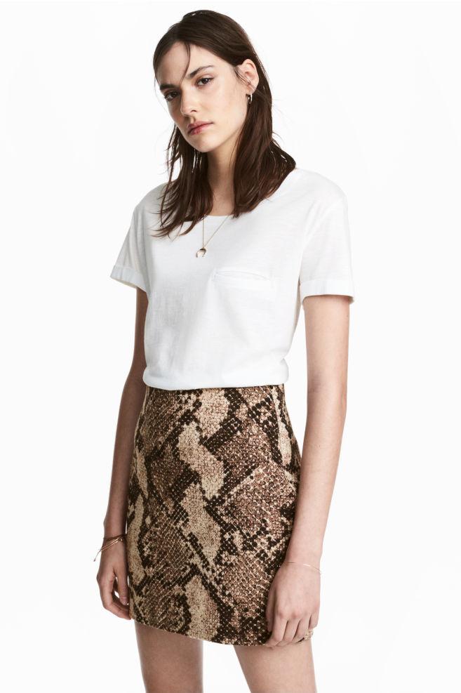 da2417a819 Short skirt - Snakeskin print - Ladies | H&M ...