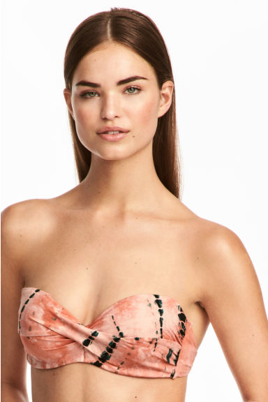 Bikini top - Apricot/Patterned - Ladies | H&M