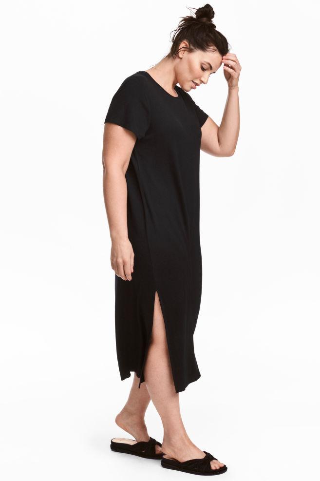 H M+ Tričkové šaty - Černá - ŽENY  ddba08eea66