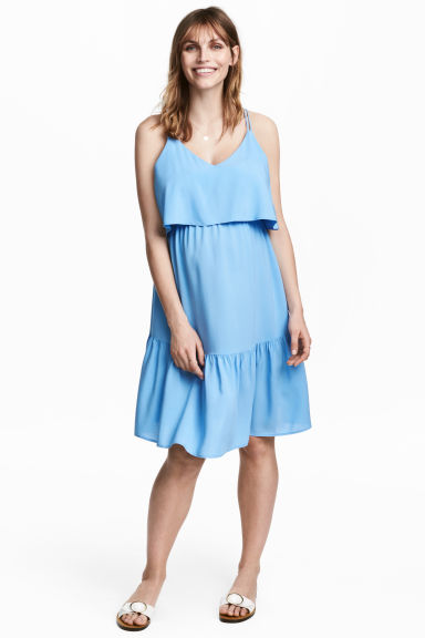 MAMA Flounced dress - Light blue - Ladies | H&M