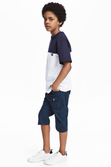 Canvas clamdiggers - Dark blue - Kids | H&M CN