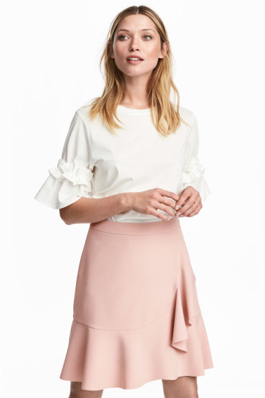 Flounced skirt - Light pink -  | H&M