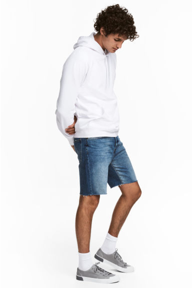 Denim shorts - Denim blue - Men | H&M IE