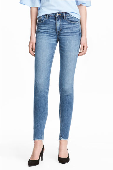 Skinny Regular Ankle Jeans - Denimblauw - DAMES | H&M BE