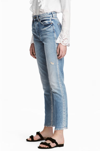 Vintage High Cropped Jeans - Denim blue -  | H&M
