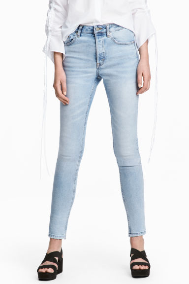 Skinny High Ankle Jeans - Light denim blue - Ladies | H&M