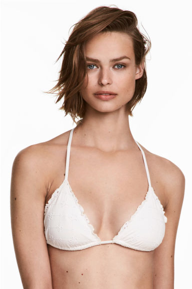 Triangle bikini top - Natural white - Ladies | H&M