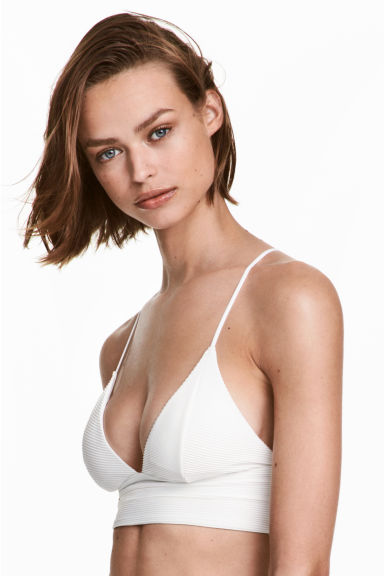 Bikini top - White - Ladies | H&M GB