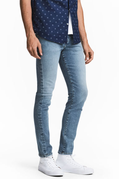 Relaxed Skinny Jeans - Denimblauw - HEREN | H&M BE