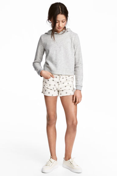 Twill shorts - White/Stars - Kids | H&M