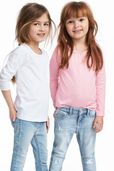 2-pack jersey tops - Light pink - Kids | H&M GB