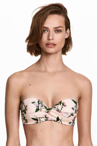 Bikini top - Light pink/Floral - Ladies | H&M