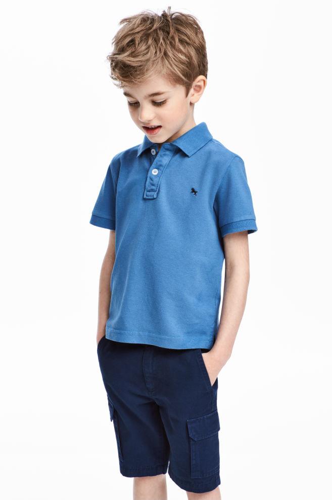 e48d4c6a Polo shirt - Blue - Kids | H&M ...